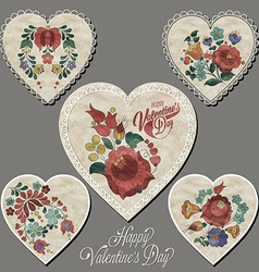 Vintage style valentines day design vector image
