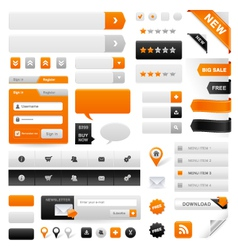 web navigation set vector image vector image