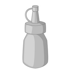 bottle of mustard icon monochrome vector image vector image