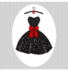 Little black dress on a hanger vector image
