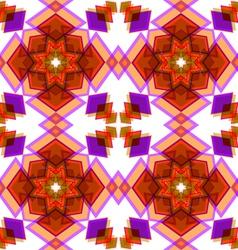 Orange festive christmas star seamless vector image vector image