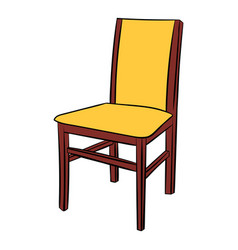 classic wooden chair comic icon vector image vector image