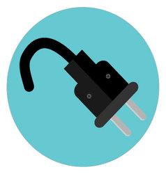 Icon plug label vector image