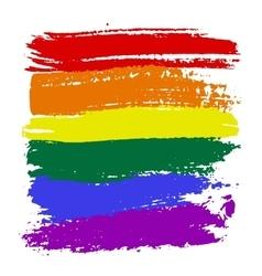 LGBT flag colors vector image