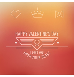 Valentines Day Card - with Love Quote vector image vector image