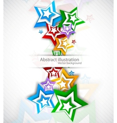 Background with colorful strars vector image