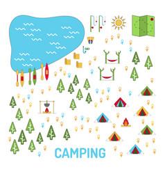 camping map set vector image vector image
