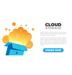 cloud storage landing vector image vector image