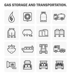Gas icon vector