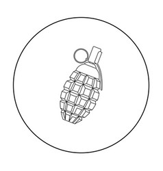 grenade icon outline single weapon icon from the vector image vector image