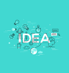 modern concept of word idea vector image vector image