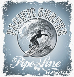 surf pacific vector image vector image