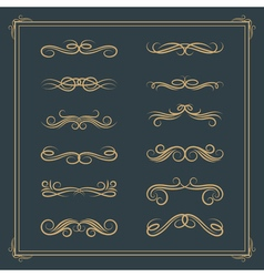 Vintage retro calligraphic design elements scroll vector image vector image