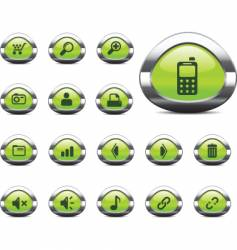 web icons green vector image vector image