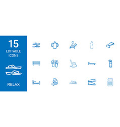 15 relax icons vector