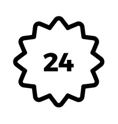 24 hours icon on white background vector