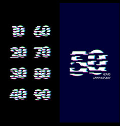 50 years anniversary celebration number template vector