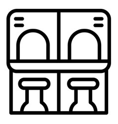 Accessible environment ticket sell icon outline vector