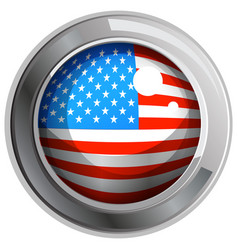 america flag on round icon vector image