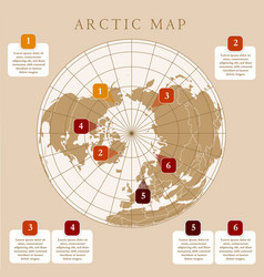 Antarctida antarctic region and south pole map vector