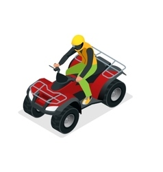 ATV rider in the action Quad bike ATV isometric vector image