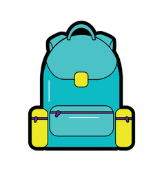 Backpack school icon image vector