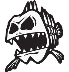 bad bone fish vector image