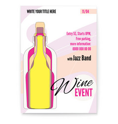 banner for wine festival event or menu covers vector image