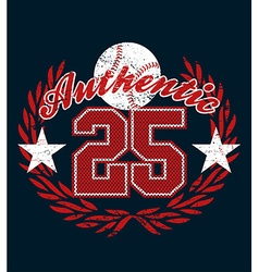 Baseball authentic jersey distressed print vector