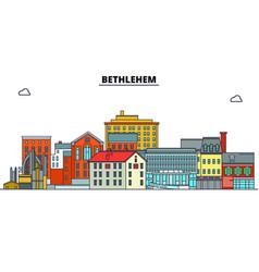 Bethlehem united states flat landmarks vector