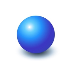 Blank blue sphere vector image