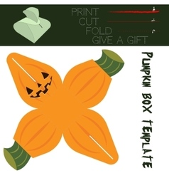 Box cut in the form Pumpkin for candy on vector