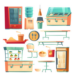 canteen furniture in school college or office vector image