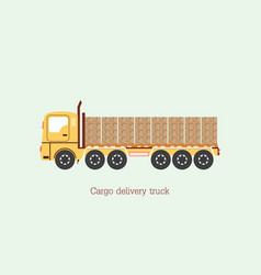 Cargo delivery vehicle truck vector