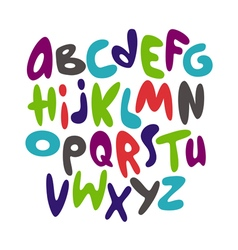 Cartoon comic graffiti font alphabet vector image