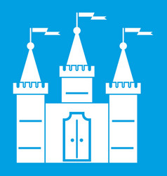 Castle icon white vector