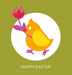 christian holiday symbols happy easter eggs and vector image