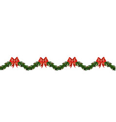 christmas horizontal seamless background vector image