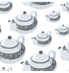 classic teapot for tea serving decorative vector image
