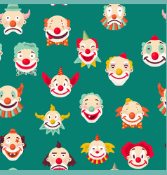 Clowns entertaining people emotions of man vector