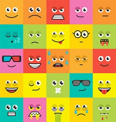 colorful emotions seamless pattern vector image