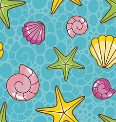 colorful sea pattern vector image