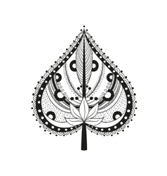 Coloring adult ethnic leaf vector