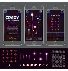 Crazy Space Arcade Asset vector