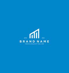 Creative letter m financial chart logo design vector