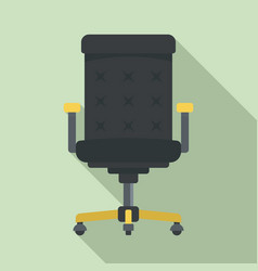 desktop chair icon flat style vector image