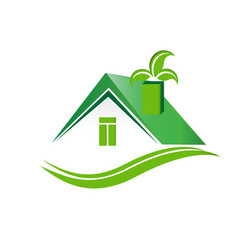 eco-friendly real estate houses vector image