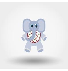 Elephant toy in the Bib vector