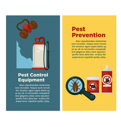 extermination or sanitary pest control vector image