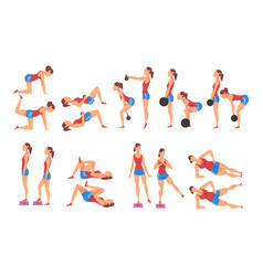 female athlete doing sports for fit body buttock vector image